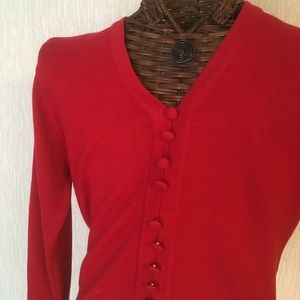 Appleseed's Red Cardigan Top
